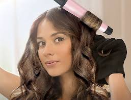 Best curling iron for long hair in action