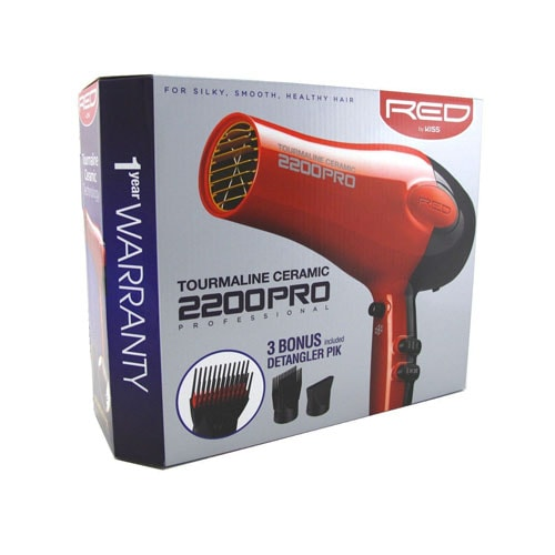 Kiss Red Pro Tourmaline and Ceramic Hair Dryer