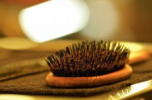 dirty hairbrush will get your clean hair dirty