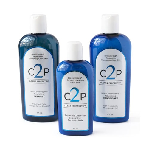 CLEAR 2 PERFECTION Non-Comedogenic Acne Treatment For Face Body and Hair