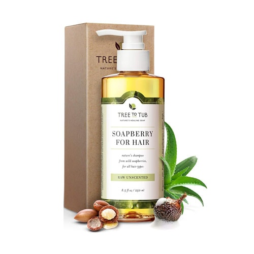 Tree to Tub Organic Moroccan Oil Shampoo with Wild Soapberries