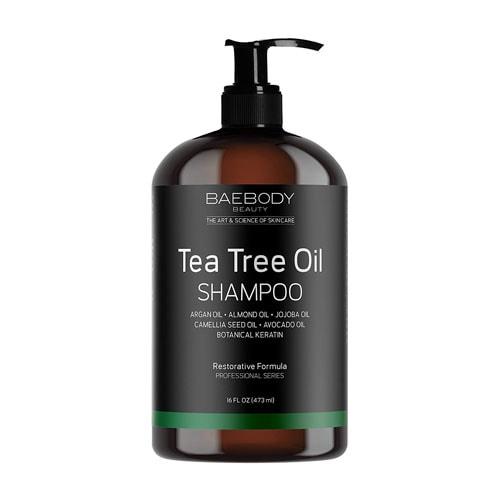 Baebody Tea Tree Oil Shampoo- Helps Fight Dandruff Dry and Itchy Scalp