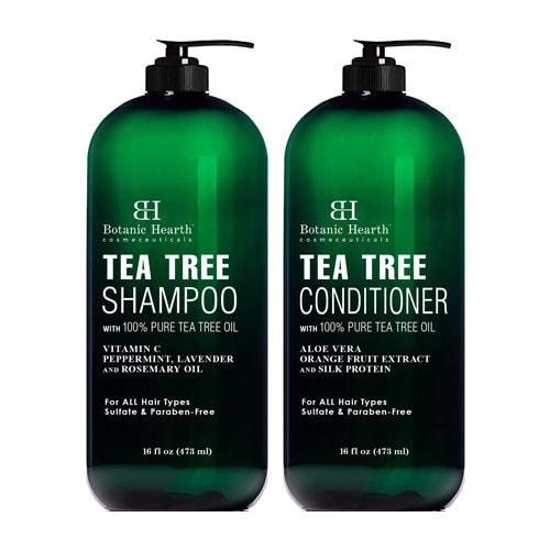 Botanic Hearth Tea Tree Shampoo and Conditioner Set