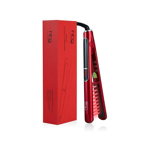HTG Professional Flat Iron with Infrared and Ionic Hair Straightener
