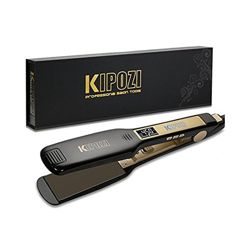 KIPOZI Professional Titanium Flat Iron Hair Straightener