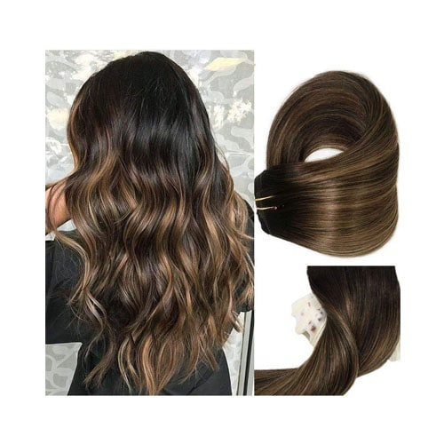 Clip In Human Hair Extensions Thicken Double Weft 9A Brazilian Hair