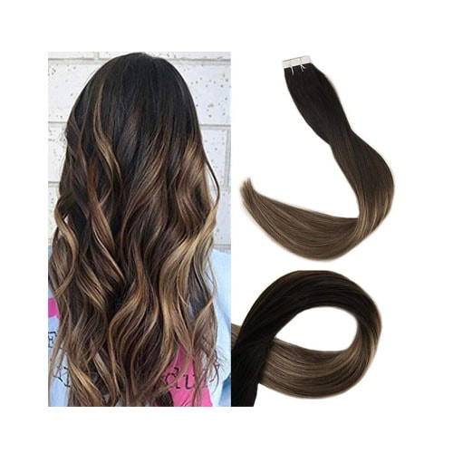 Full Shine 20 Balayage Tape in Hair Extensions