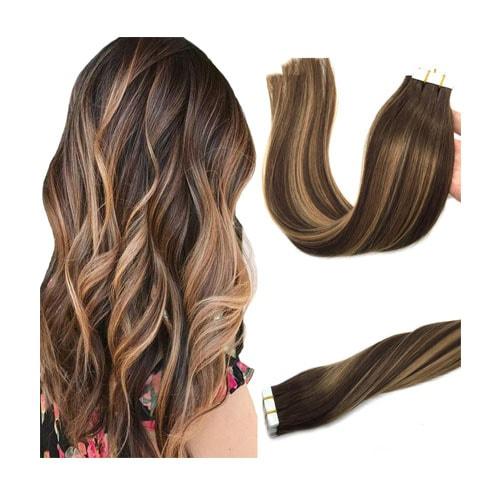 Googoo 20pcs 50g Human Hair Extensions Tape