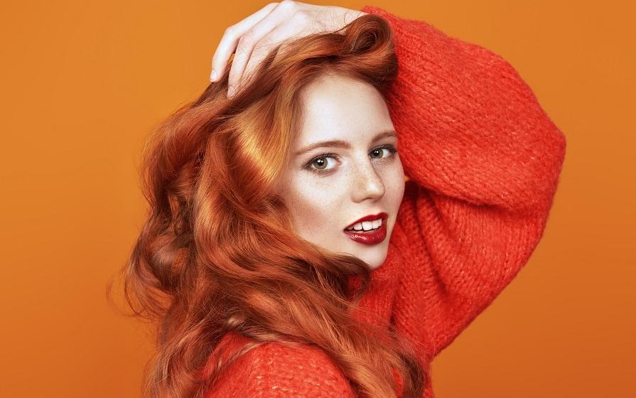 orange hair dye.
